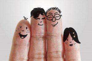 13310191-happy-family-with-painted-smiley-on-human-fingers
