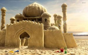 7223-sand-castle-1680x1050-artistic-wallpaper