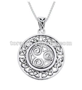 fashion_Silver_Celtic_Border_Triskelion_knot_necklaces_jewelry
