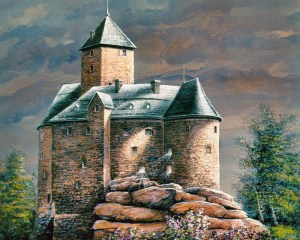 medieval-castle-paintings