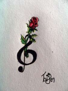 Rose_and_treble_clef_tattoo_2_by_Nonnyarie