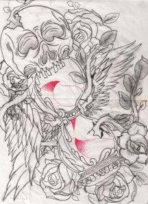 skull-and-hourglass-tattoo-by-oldschooladorned-on-deviantart-d-v-tattoodonkey.com