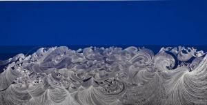 Instituto-Tomie-Ohtake_Sandra-Cinto_Mar-Azul_2008_caneta-permanente-e-acrílica-sobre-MDF_150-x-275-cm_coleção-particular_foto_Everton-Balardin