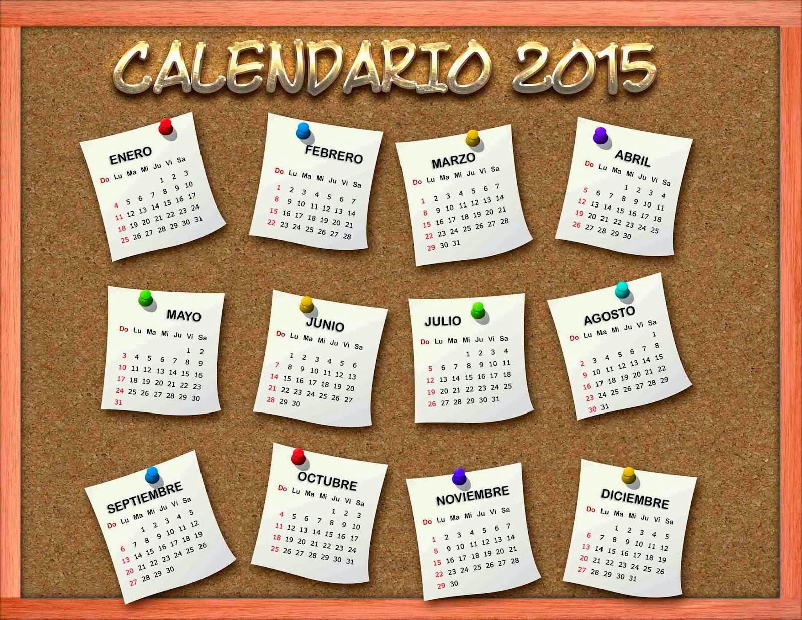 Calendário 2015   ~~ Fiore Rouge ~~