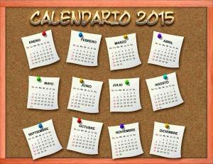 CALENDARIO 2015 PIZARRÓN CORCHO PSD