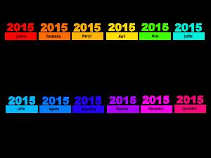 calendario 2015-rainbow-colorido - 1