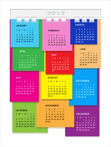 Color-Stickers-Calendar-2015-Vector