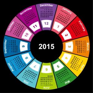 Ring-Calendar-2015-Vector