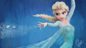 disney_s_frozen___elsa_the_snow_queen_painting_by_minoru987-d705bkp