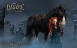 brave.disney.wallpaper.merida.and.her.horse.angus.princesa.merida.e.seu.cavalo.angus.papel.de.parede