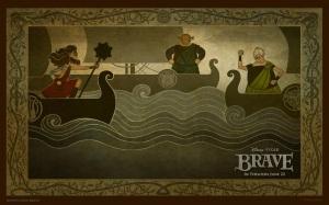 brave.disney.wallpaper.valente.papel.de.parede.desenho.navegando.ship.viking-style