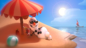 frozen.filme.olaf.boneco.de.neve.na.praia.olaf.snowman.on.the.beach
