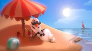frozen.filme.olaf.boneco.de.neve.na.praia.olaf.snowman.on.the.beach