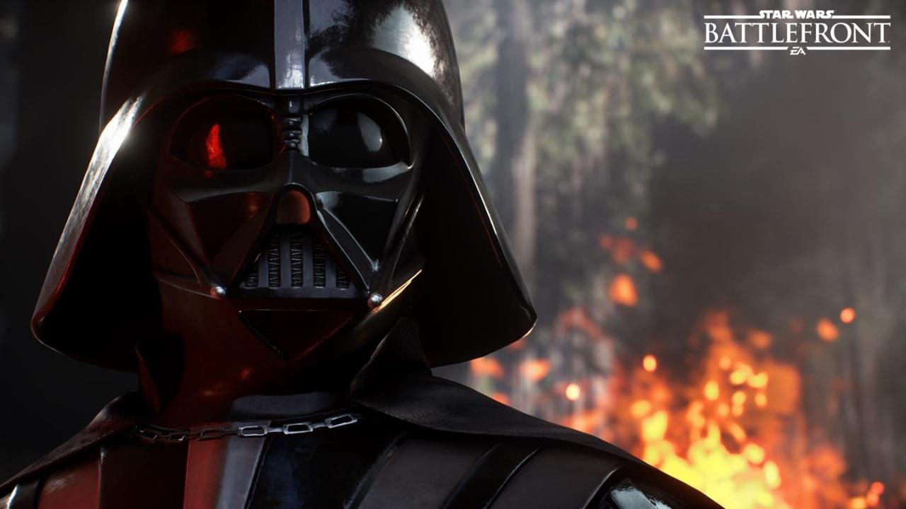 star wars wallpaper papel de parede darth vader.battlefront.videogame