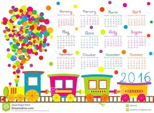 calendar-cartoon-train-kids-white-background-48000267